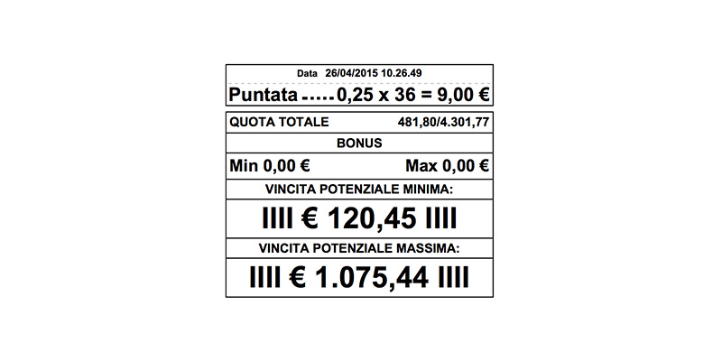 Vincere 1000 euro